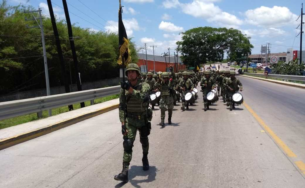 Llega un efectivo de 500 elementos al 39o Batallón de Infanteria