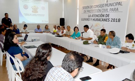 Abren Consejo Municipal de PC para atención a Lluvias y Huracanes 2018