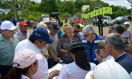 Supervisan trabajos de franja norte de autopista Tuxpan-Tampico