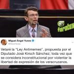 """Vetará el Gobernador Yunes la """"Ley Antimemes"""", propuesta por el Diputado José Kirsch Sánchez"""