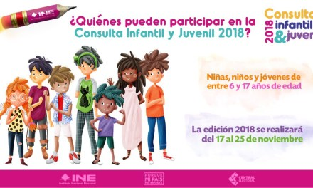 INE REALIZARÁ CONSULTA INFANTIL Y JUVENIL 2018