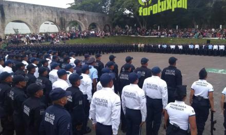 Tuxpan con policías de academia