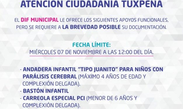 DIF Tuxpan Ofrece Apoyos Funcionales