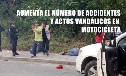 Aumenta el número de accidentes y actos vandálicos en motocicletas