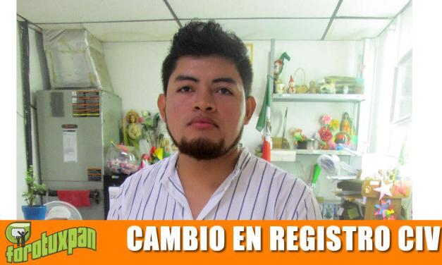 Nuevo Oficial del Registro Civil en Tuxpan