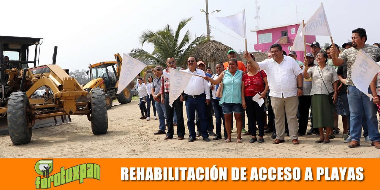 Banderazo de rehabilitación accesos a playas