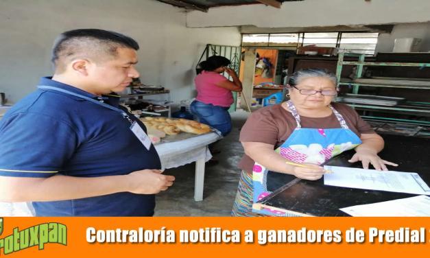 Contraloría notifica a ganadores de Predial 2019