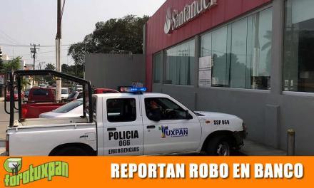 REPORTARON ROBO EN LA SUCURSAL SANTANDER