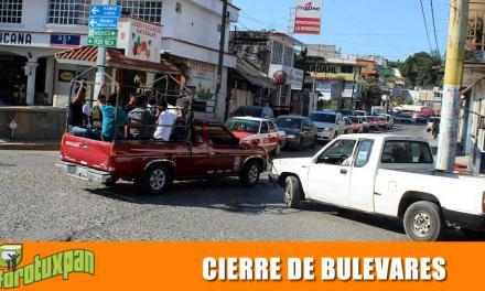 CIERRE DE BULEVARES A PARTIR DE LAS 14:00 HORAS