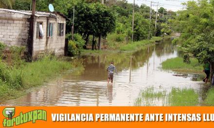 Vigilancia permanente ante intensas lluvias