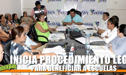 INICIA PROCEDIMIENTO LEGAL PARA BENEFICIAR A ESCUELAS