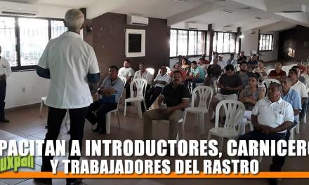 CAPACITAN A INTRODUCTORES, CARNICEROS Y TRABAJADORES DEL RASTRO