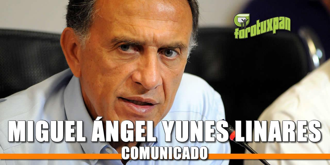 Comunicado de Miguel Ángel Yunes Linares
