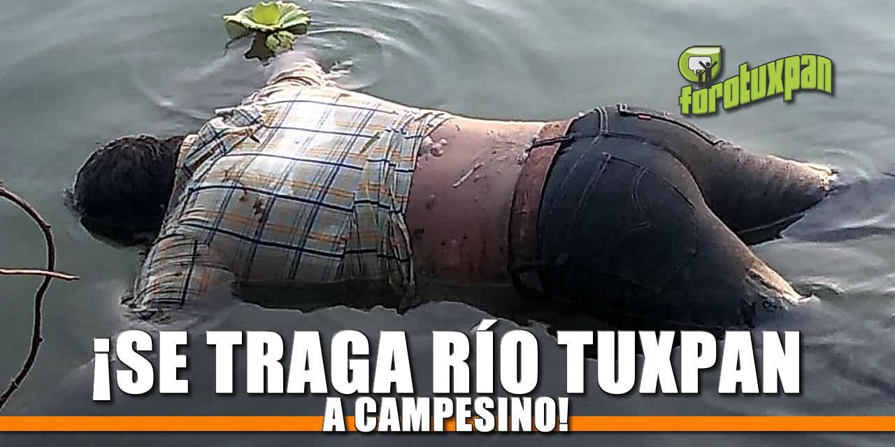 ¡Se traga río Tuxpan a campesino!