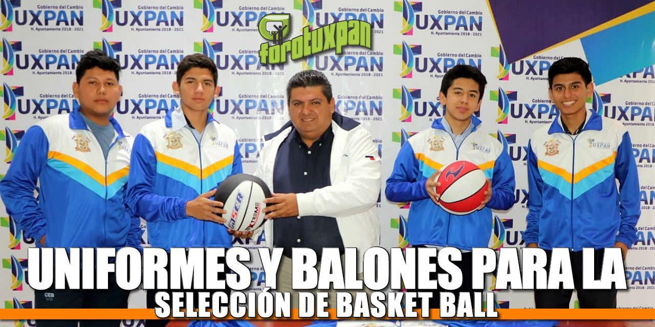 Uniformes y balones para la selección de basquetbol en modalidad 3X3