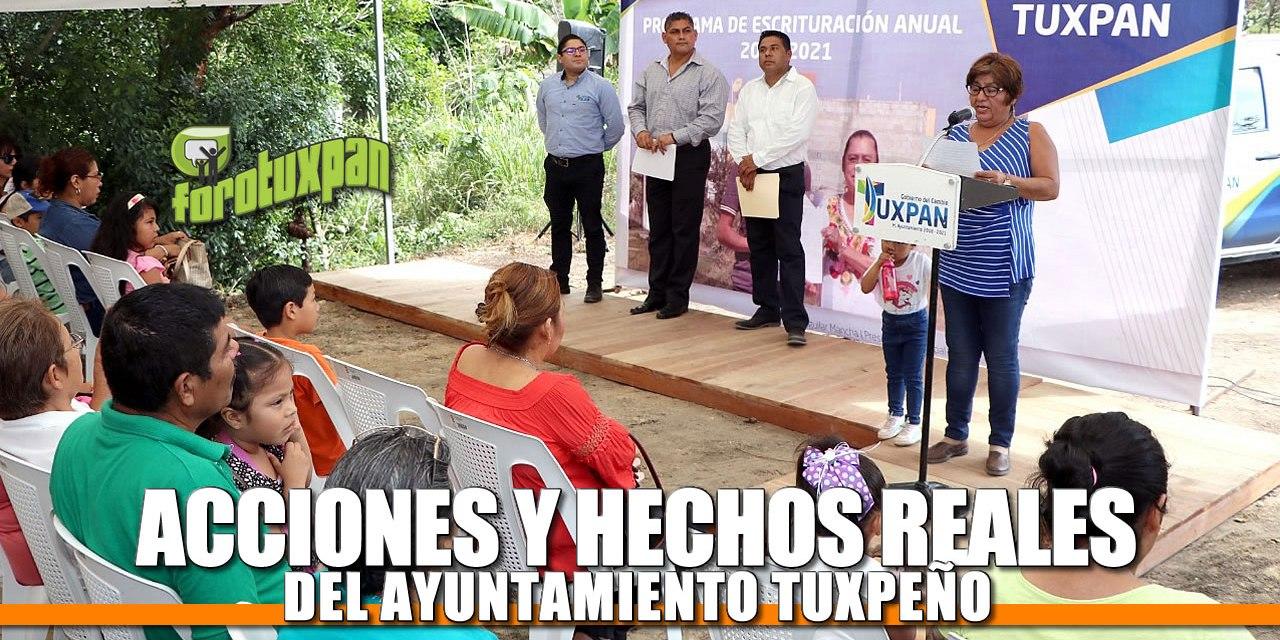 Acciones y hechos reales del Ayuntamiento de Tuxpan