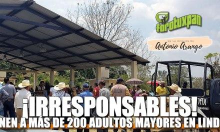 ¡IRRESPONSABLES! Reúnen a más de 200 Adultos Mayores en LINDERO