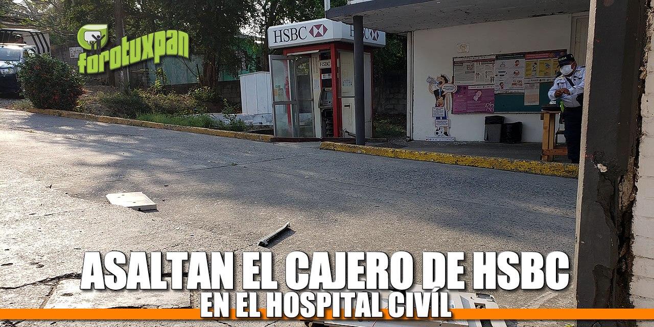 ASALTAN EL CAJERO DE HSBC EN EL HOSPITAL CIVIL