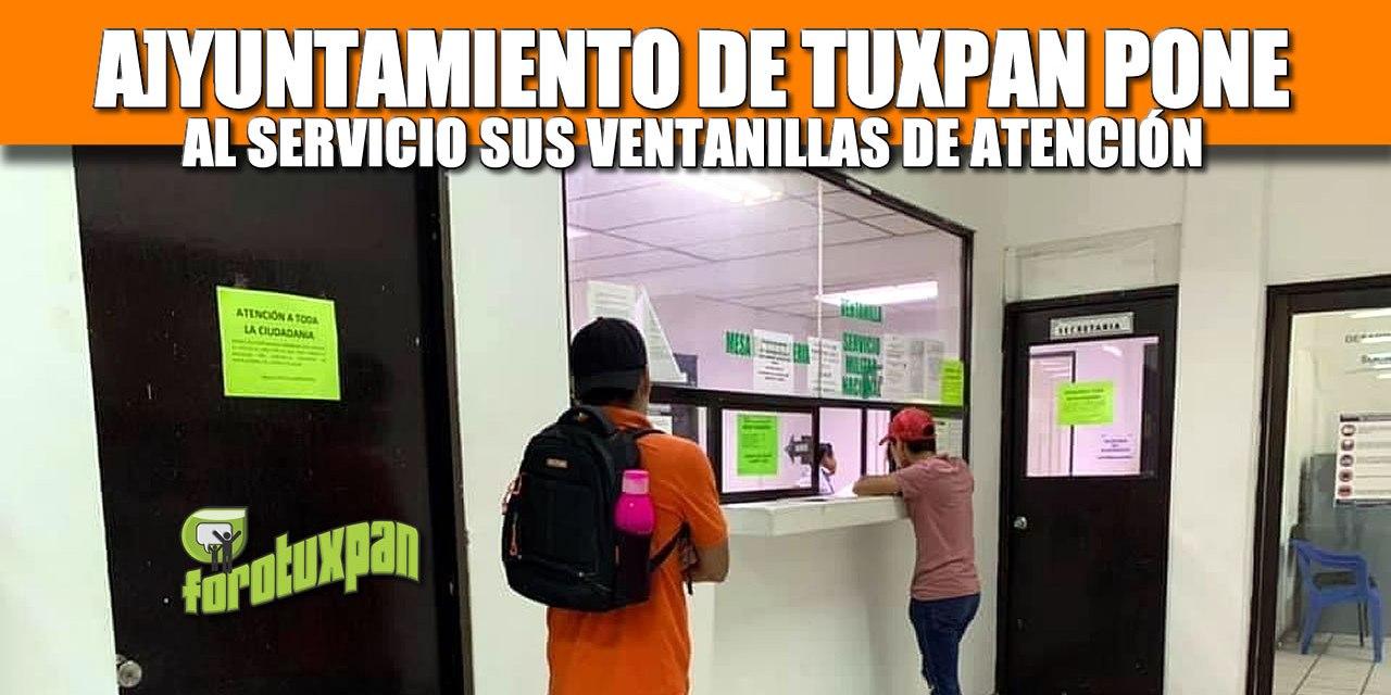 AYUNTAMIENTO DE TUXPAN PONE AL SERVICIO SUS VENTANILLAS DE ATENCIÓN