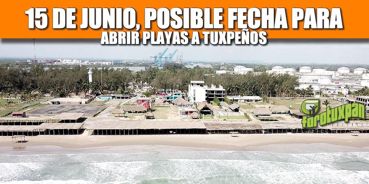 15 de Junio, posible fecha para abrir playas a Tuxpeños