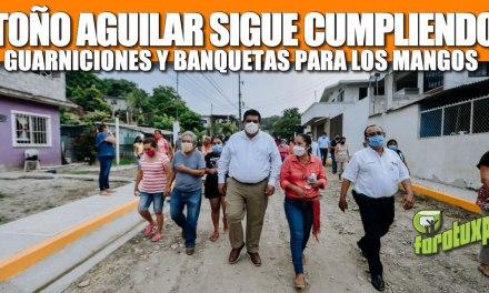 TOÑO AGUILAR SIGUE CUMPLIENDO: GUARNICIONES Y BANQUETAS PARA LOS MANGOS