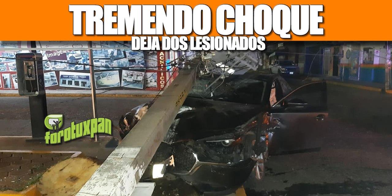 TREMENDO CHOQUE DEJA DOS LESIONADOS