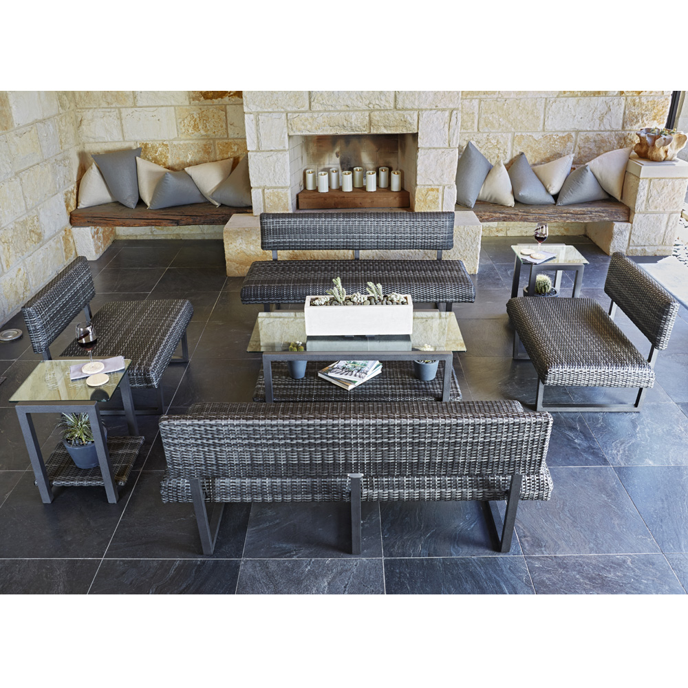 canaveral harper patio lounge set woodard at forpatio com