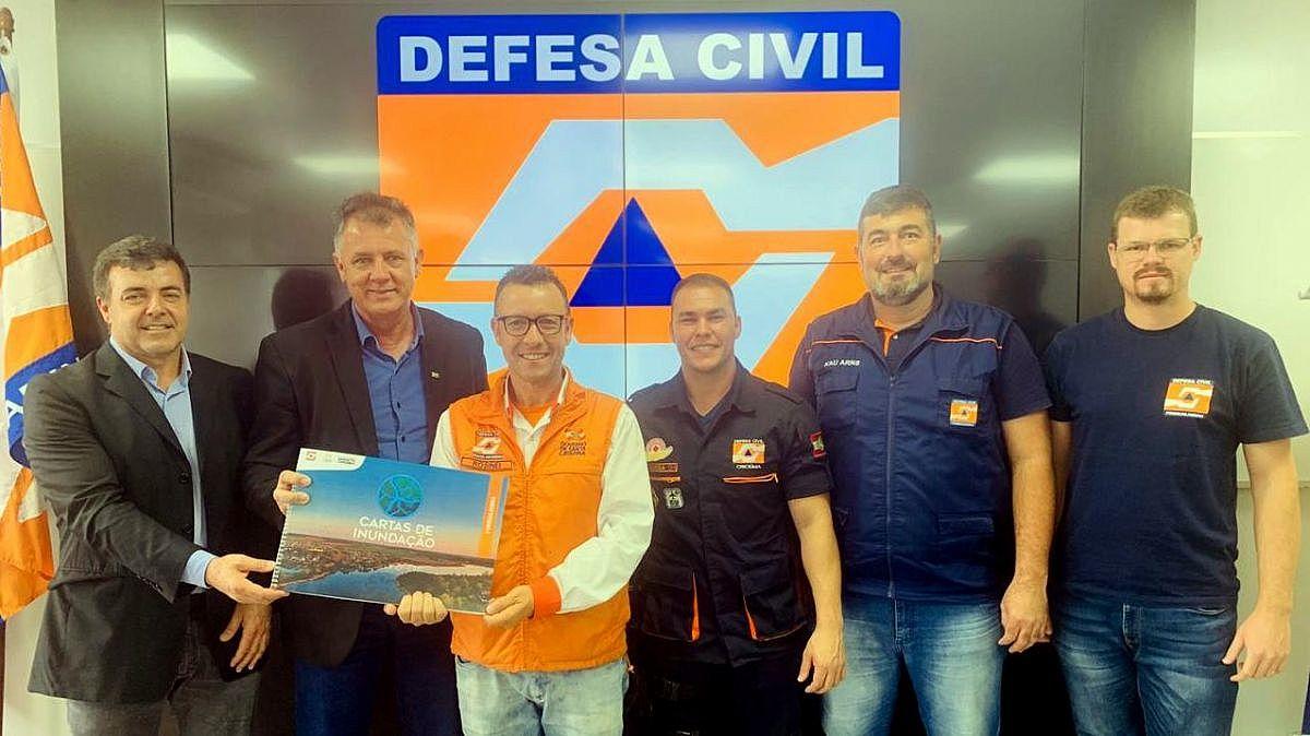 Forquilhinha recebe Carta de Inundação da Defesa Civil - Forquilhinha Notícias