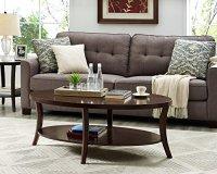 Roundhill Furniture OC0020 Perth Contemporary Oval Shelf ...