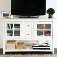 "WE Furniture 52"" Console Table Wood TV Stand Console ..."