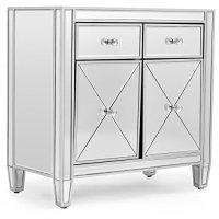 Cabinet Storage Mirrored Accent Cabinet Storage Chest ...