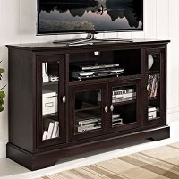 """WE Furniture 52"""" Wood Highboy Style Tall TV Stand ..."""
