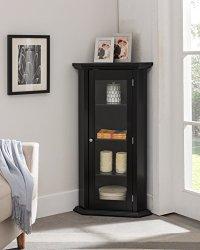 Kings Brand Furniture - Corner Curio Storage Cabinet With ...