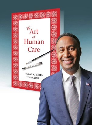 empathy & compassion in healing - photo of Dr. Tetteh and his book cover