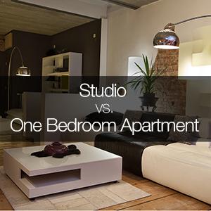 studio vs. one-bedroom apartment