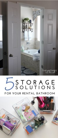 5 Storage Solutions for Your Rental Bathroom