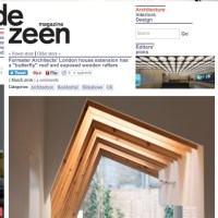 Our 'butterfly' roof is featured in Dezeen.