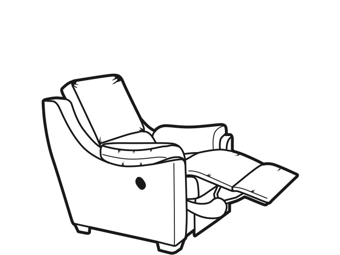 Albany Fabric Manual Recliner by Parker Knoll. Furniture