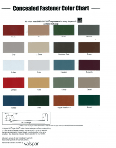 Color chart also metal roofs for sale roofing in paragould ar rh forsaleroofing
