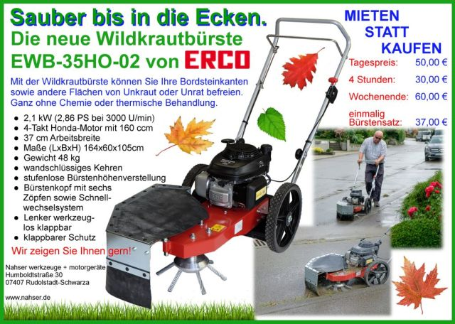 ERCO Wildkrautbürste EWB-35HO-02