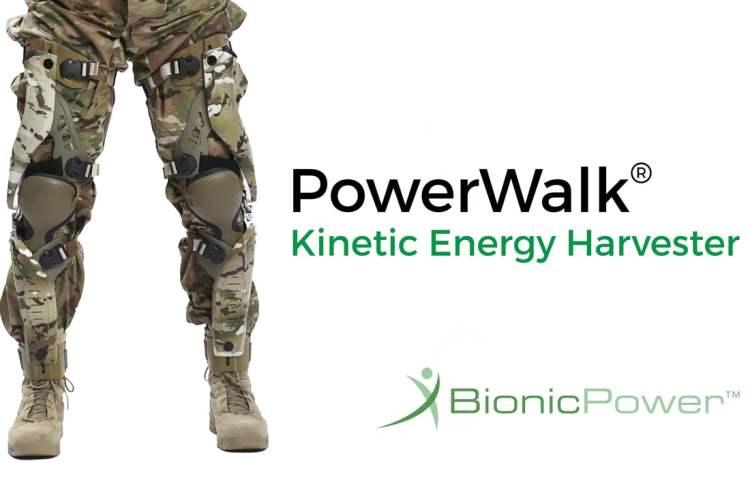 PowerWalk konverterer soldats bevægelse til energi
