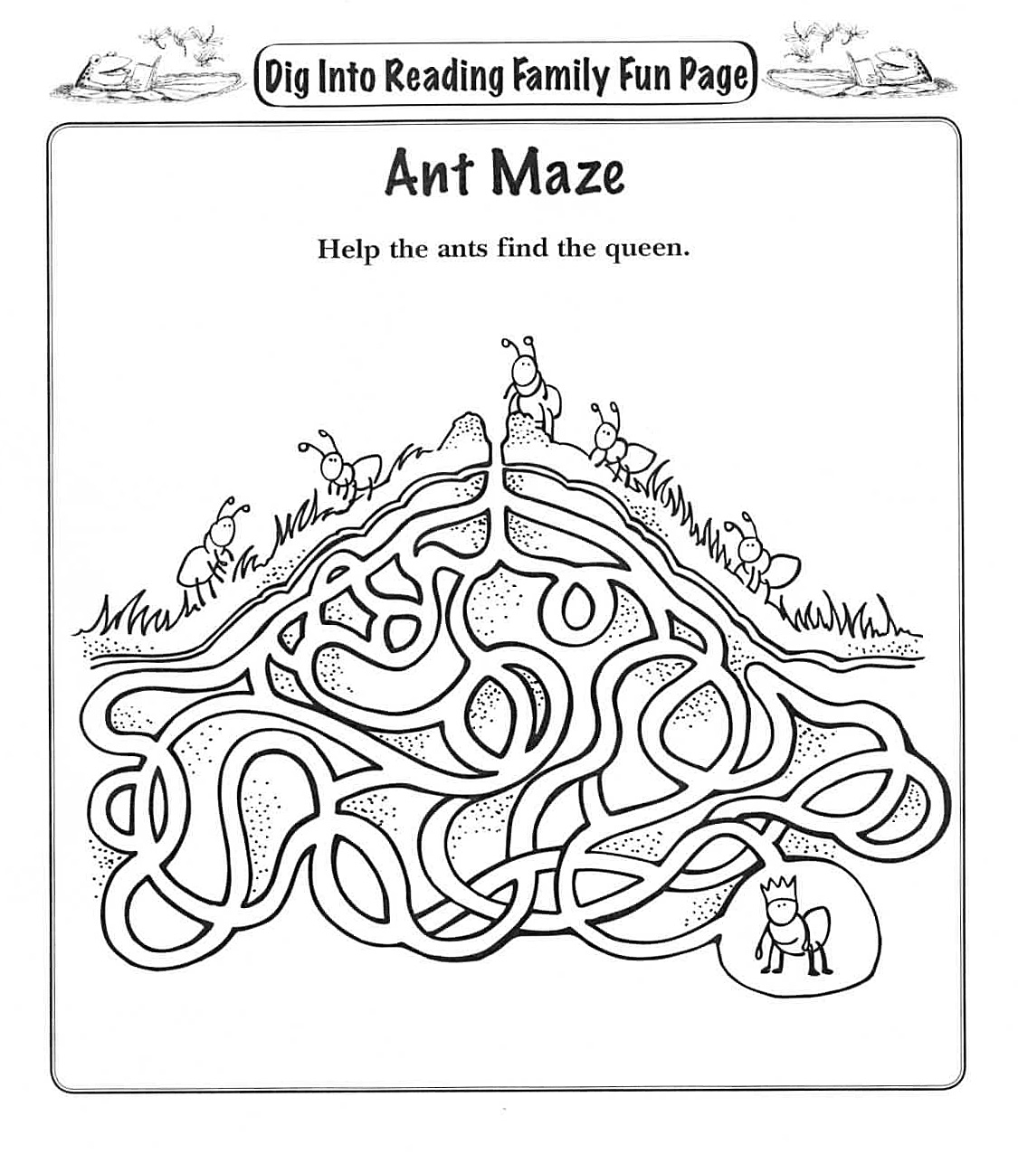 Ant Anthill Worksheet