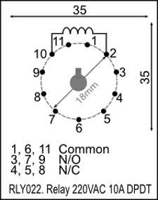 3pdt Relay Power 2PDT Relay Wiring Diagram ~ Odicis