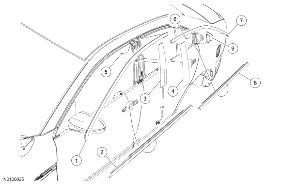 Ford Taurus Service Manual: Exterior Trim and