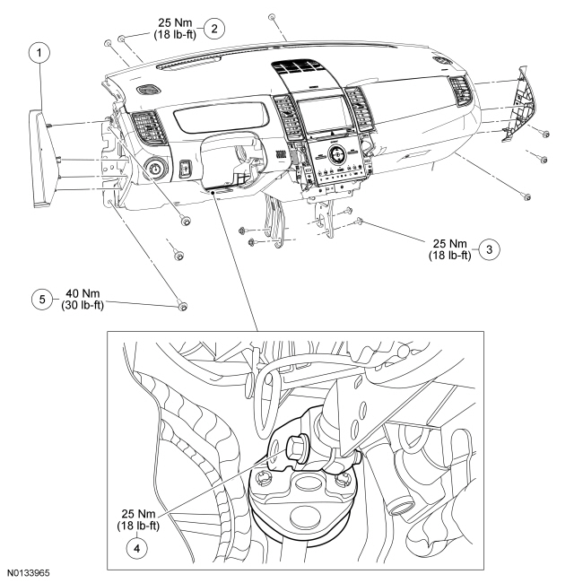 Ford Taurus Service Manual: Instrument Panel and Console