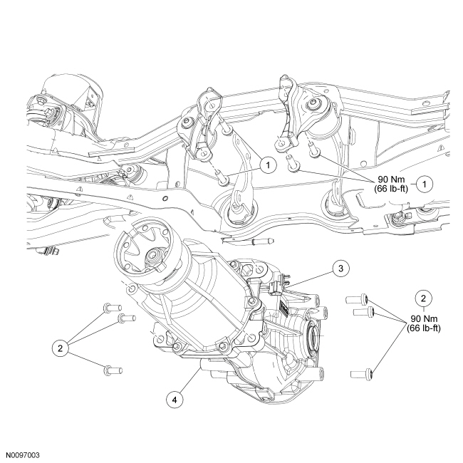 Ford Taurus Service Manual: Rear Drive Axle/Differential