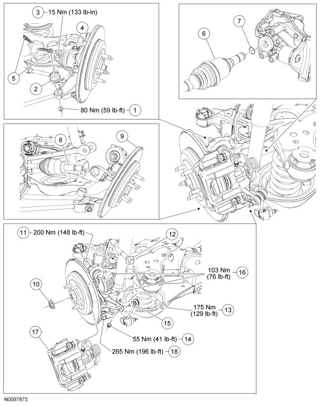 Ford Taurus Service Manual: Rear Drive Halfshafts