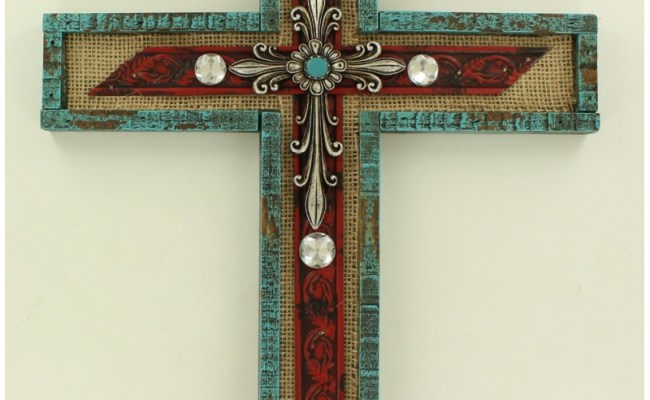 M F Western Products Home Decor Wall Cross Fort Brands