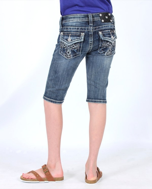 Miss Me Bermuda Shorts for Girls