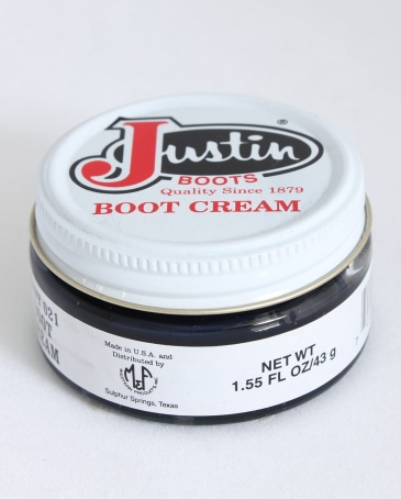 Justin Brand Navy Boot Cream 155 oz Fort Brands